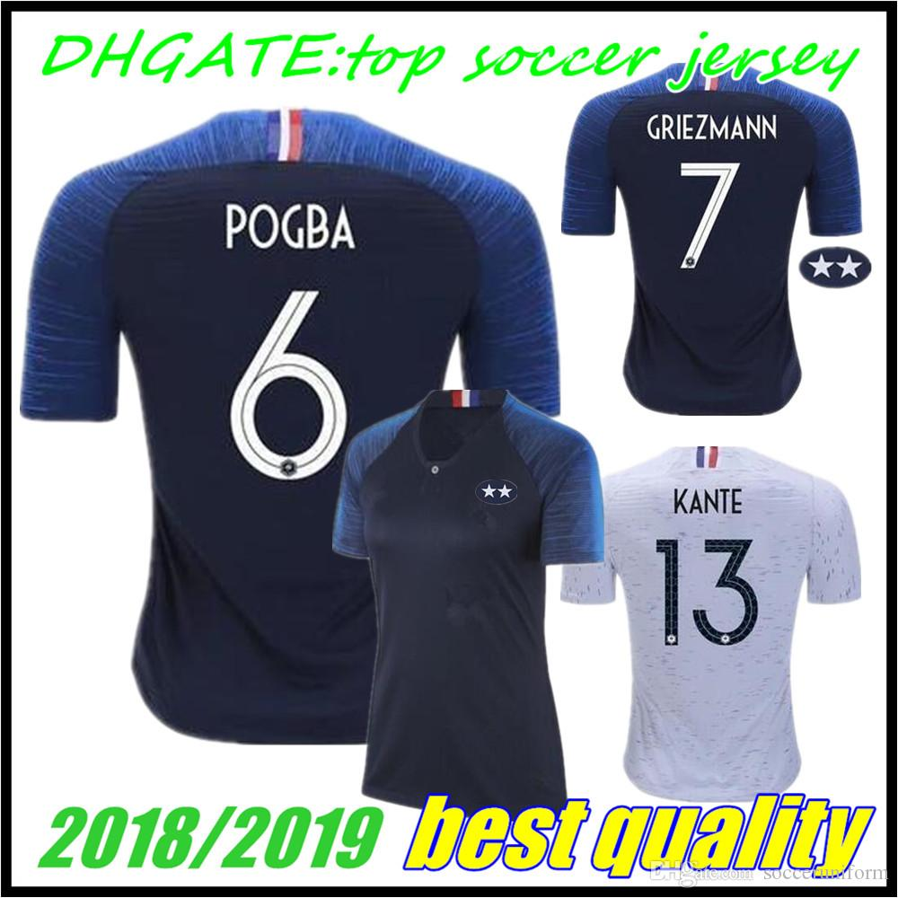 European League French 2 Stars World Cup 2018 Champion Mbappe GRIEZMANN Soccer  Jerseys Men Women 18 19 COMAN GIROUD POGBA PAYET KANTE Shirts UK 2019 From  ... 79d13bb7f