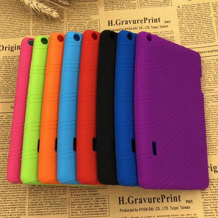 buy popular 7d01c 6f2cf For Huawei MediaPad T3 7.0 BG2-W09 kids Case Shockproof Soft TPU Silicone  Colorful Soft cover For Huawei T3 7 stylus pen