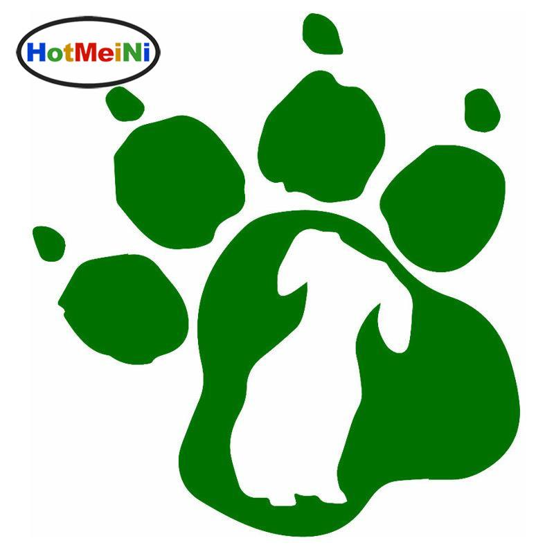 2019 Wholesale Car Styling Dachshund Dog Paw Print Vinyl Decal