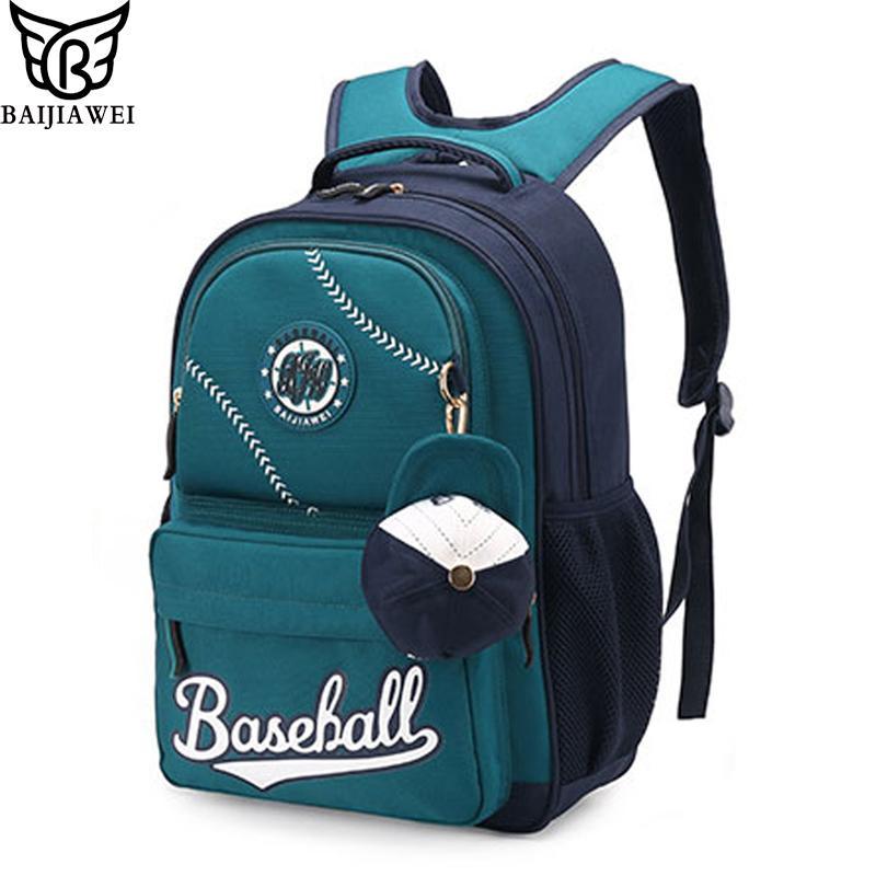 BAIJIAWEI Children Waterproof Backpack In Primary School Backpacks Children  School Bags For Boys Girls Mochila Infantil Zip Y18110107 Small Backpack  For ... bb3fe7c889cc4