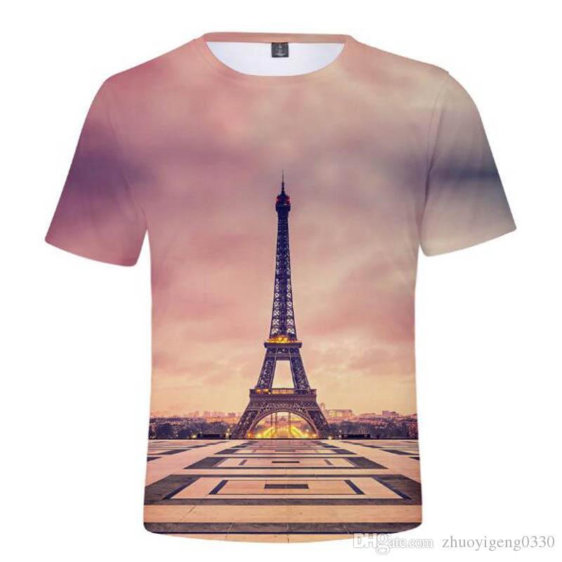 479a173be Frdun Tommy Eiffel Tower T Shirt 3D France Paris Tee Shirt Men/Women Tshirt  3D Night Of Eiffel Tower Cotton Soft T Shirt Fashion Design Tee Shirts T  Shirt ...