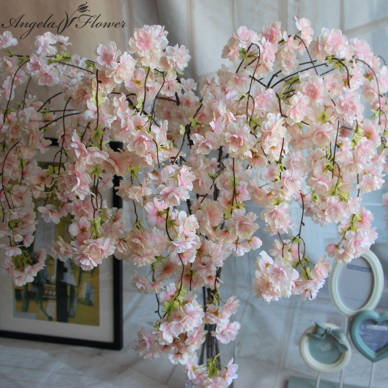 Online Cheap Natural Vertical Silk Cherry Blossom For Wedding ...