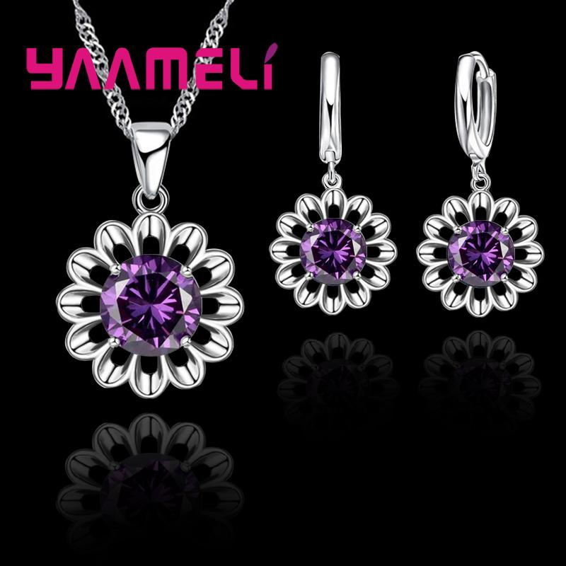Earrings Fine Yaameli Big Discount 925 Sterling Silver Earrings Pendant For Women Girlfriend Good Crystal Cubic Zirconia Jewelry Present High Quality Materials