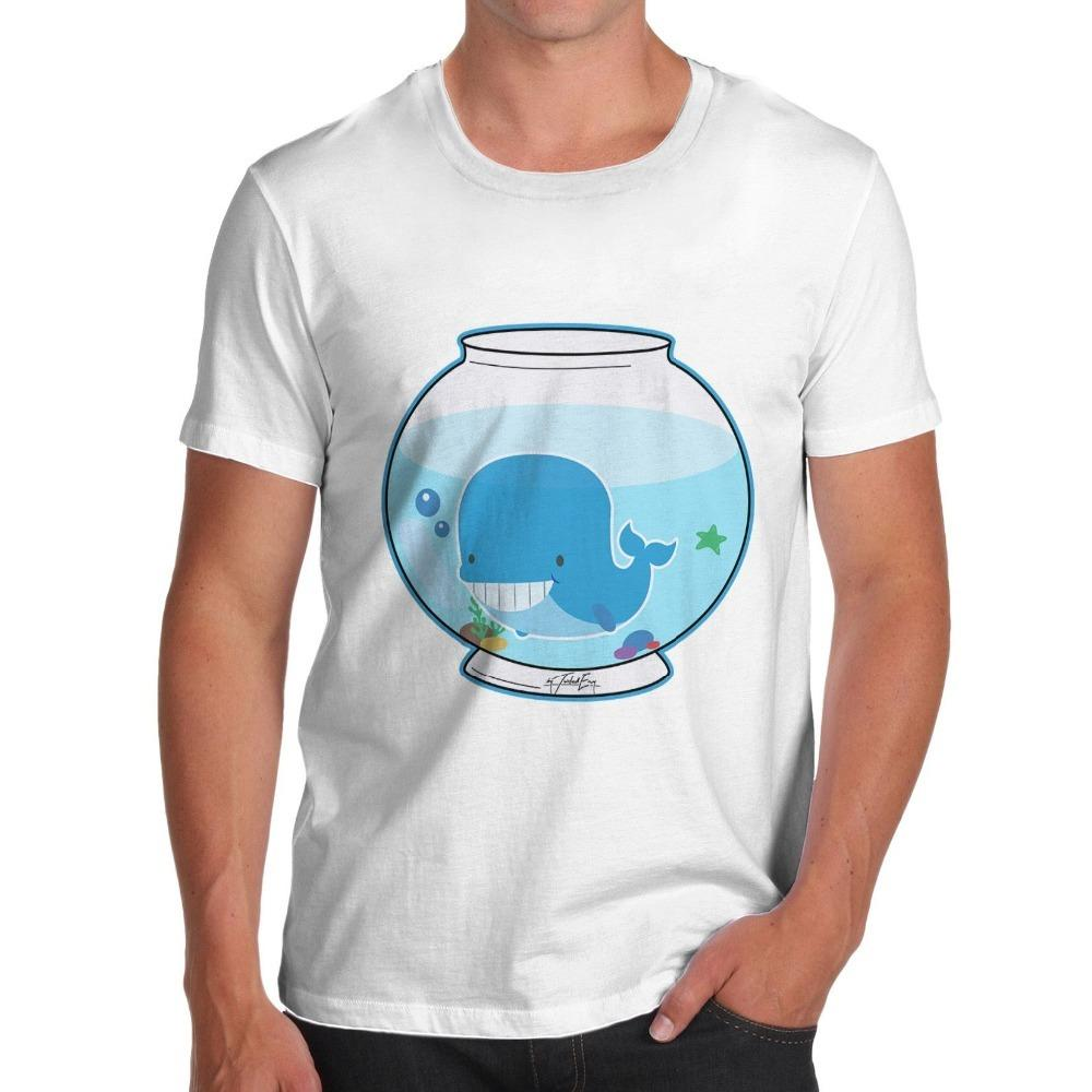 Graphic Tees Sale Regular Short Whale In A Fishbowl Men'S New Style O-Neck Short-Sleeve Tee Shirt