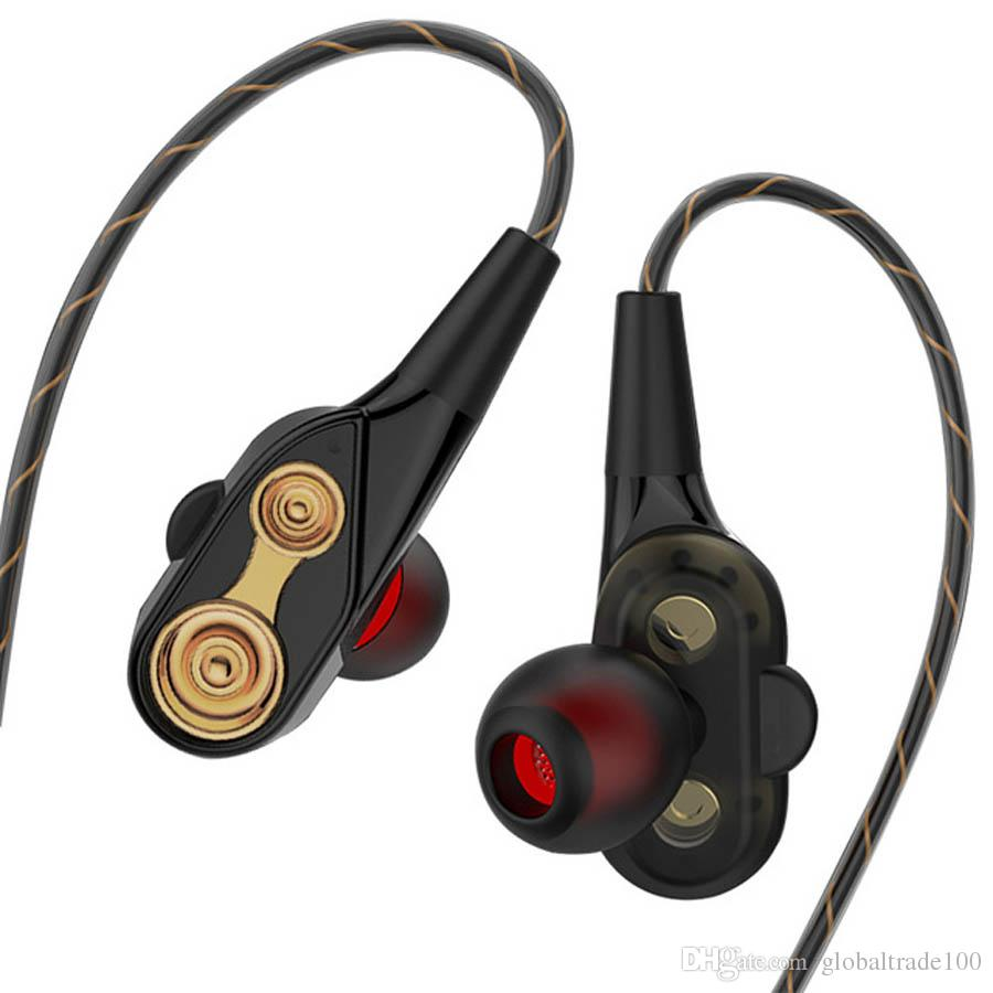 1bf1f380f1c QKZ CK8 Dual Driver Earphones Stereo Bass Sport Running Headset HIFI  Monitor Earbuds Handsfree With Mic Best Quality The Best Earbuds Handsfree  Headset From ...