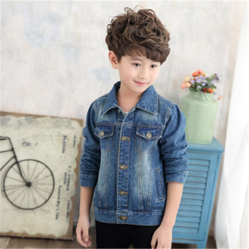 3ea9d0eed 2018 New Spring Children s Jacket Casual Boy Jeans Jackets Long ...