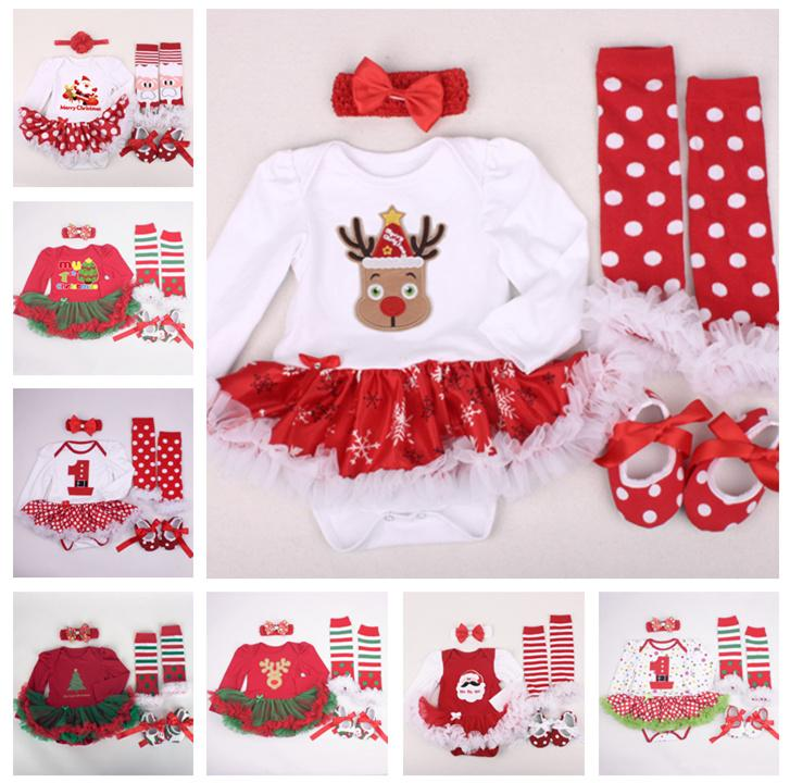 2018 newborn baby christmas clothes 20 desings xmas outfits clothing sets tutu romper kids 0 2t dress cute tutu long sleeve rompers le22 from mask01