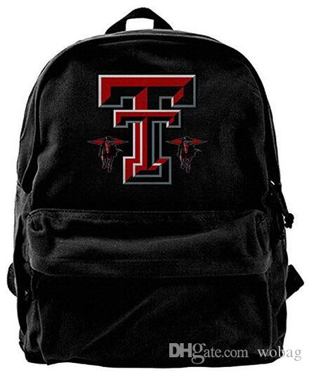 208e752b Texas Tech Red Raiders Logo Fashion Canvas Shoulder Backpack For Men &  Women Teens College Travel Daypack designer backpack duffle bag Black