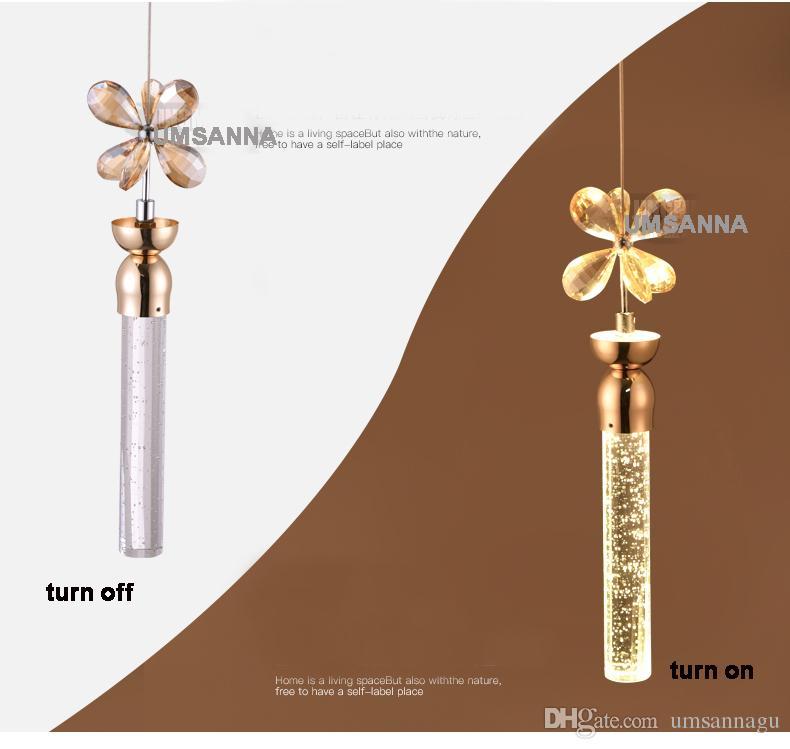 Lâmpadas LED moderna candelabro de cristal K9 bolha Bar Lustres luzes Fixture americano Longa Grande Stair penduradas luz Início Iluminação Interior