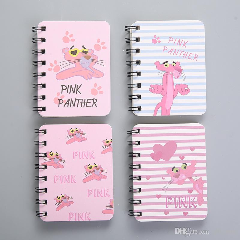 lovely pink panther notebook recite words learn foreign language