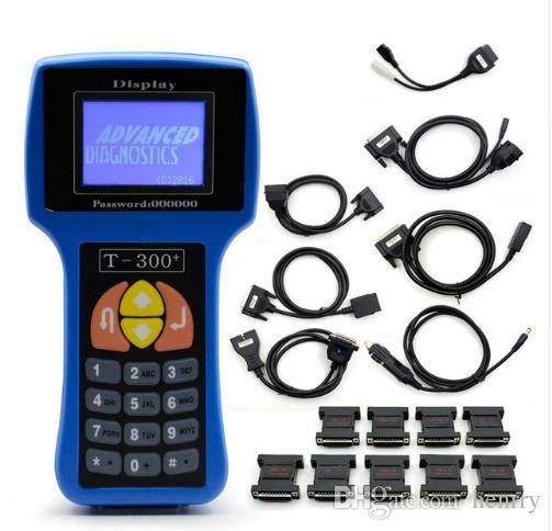 Ключевой Программник V17 T300.8 последняя версия T 300 T-CODE Key транспондер Key Auto диагностический инструмент синий черный цвет испанский английский языки