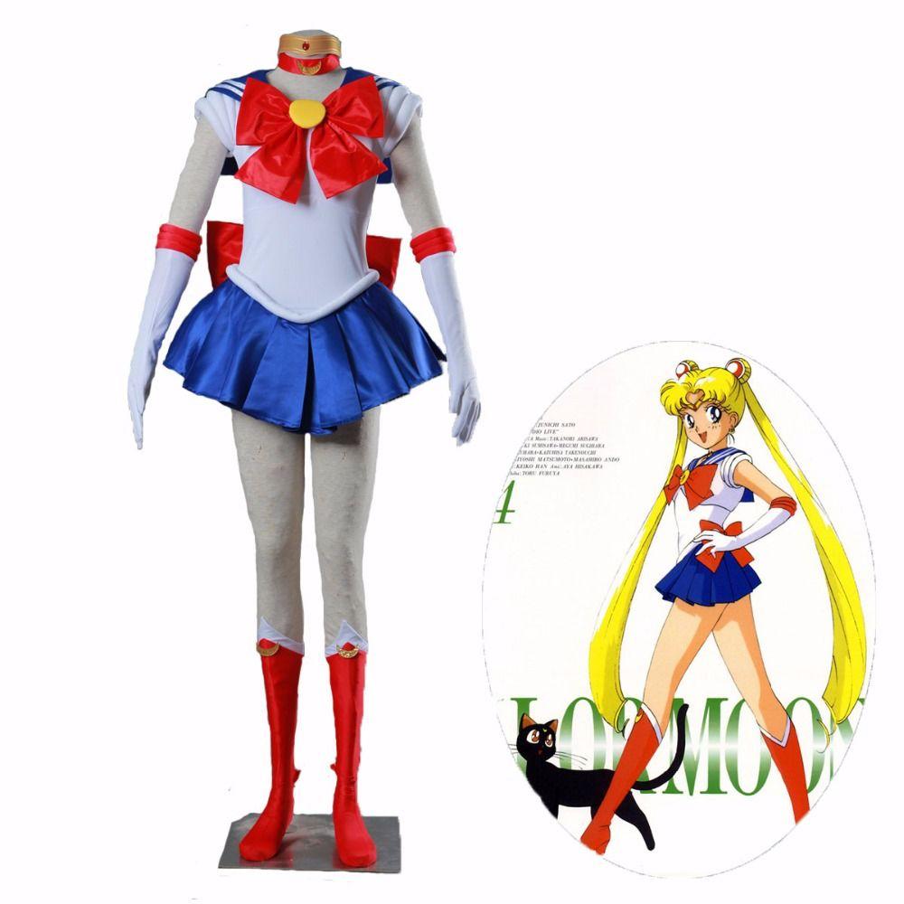 Athemis Anime Sailor Moon Tsukino Usagi Cosplay Party Costume Custom