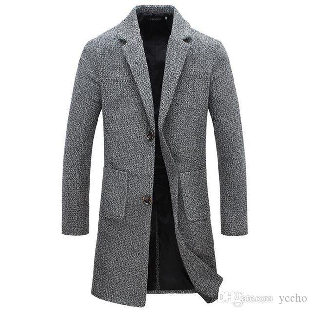 9e834b482 Autumn Winter New Fashion Brand Men s Clothes Trend Jacket Wool Coat ...