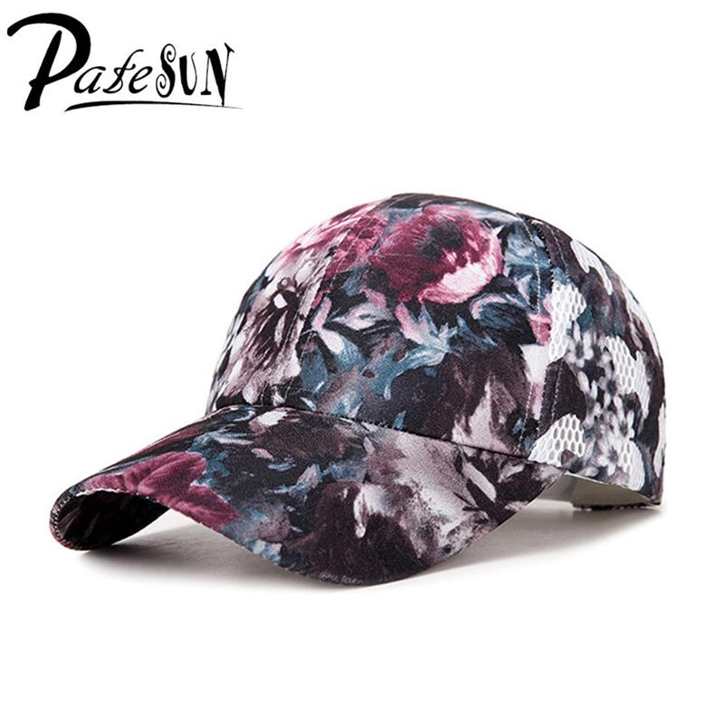 Patesun Women Floral Baseball Cap Casual Flower Print Hat For Ladies Girls  Fashion Adjustable Female Caps Millinery Richardson Hats From Shanjumou 59da2eb4eab