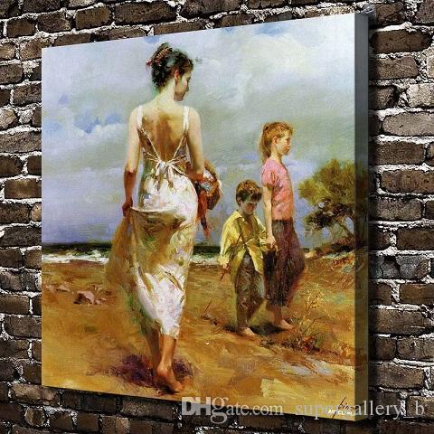 Famous Pino - Happy time Handpainted & HD Print Home Decor Wall Art oil  painting High Quality Thick Canvas  Multi sizes p183