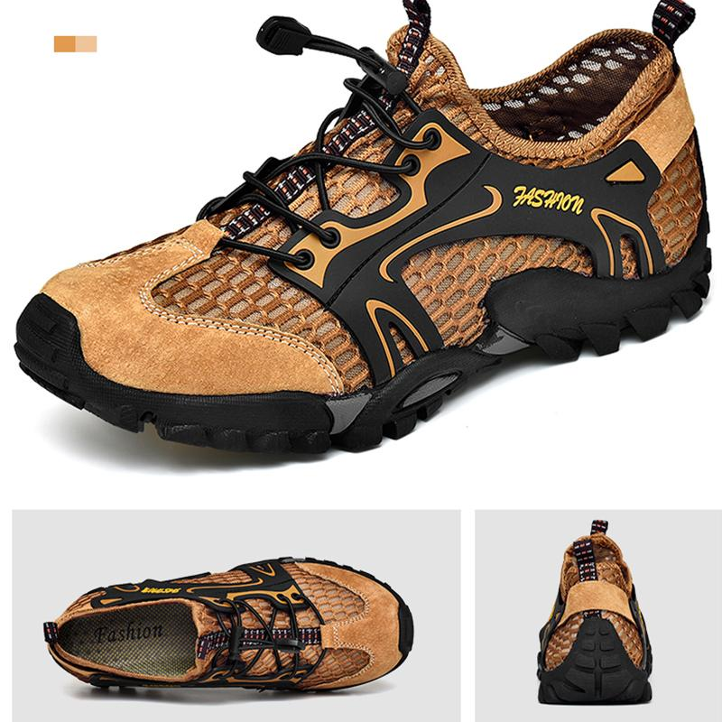 b8316937fd7e4 Mens Sports Sandals Summer Leather Outdoor Fisherman Beach Athletics  Walking Hiking Sandals Appalachian Closed-Toe Sandal Water Shoes 38-46