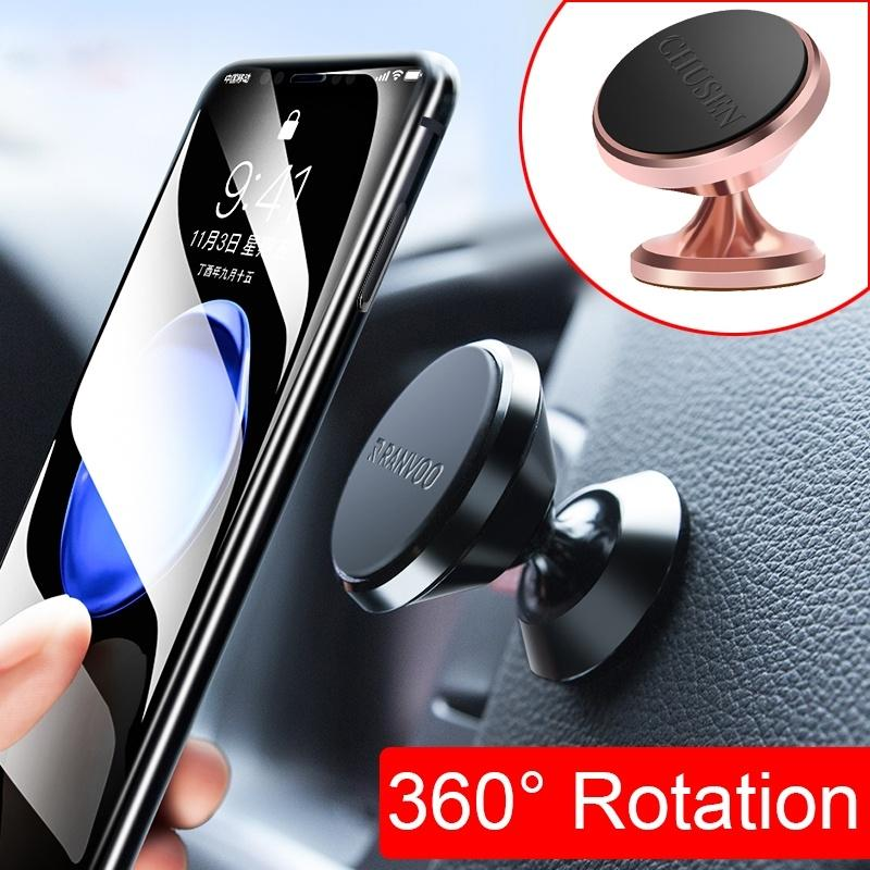 86ac5b60369f3 2019 360 Degree Universal Magnetic Car Phone Holder Cell Phone Accessories  Strong Magnetic Hold Stand At Home
