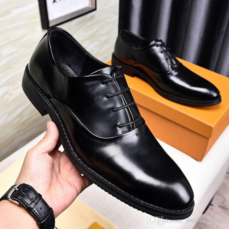 eaf30e6c Compre 2018 Zapatos De Vestir De La Marca De Lujo Zapatos De Cuero De Los  Hombres De Moda Elegantes Zapatillas De Deporte De Lujo De Calidad Para  Hombres ...