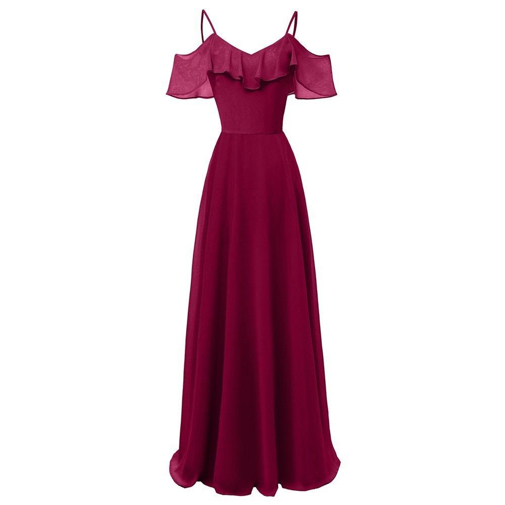 24e03c198 Compre 2018 Verano Estilo Preppy Vintage Elegante Borgoña Gasa Vestidos  Largos De Las Mujeres Flobala Falbala Llanura Azul Hembra Vestido Ocasional  A  55.8 ...