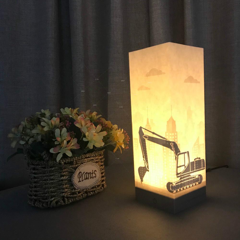Lumière Table Excavator Bureau Cadeau Addiction Gros Couleur Pour Led Comme Voiture Enfants En Veilleuses 3d Usb De Lampe Tactile rdCthsQ