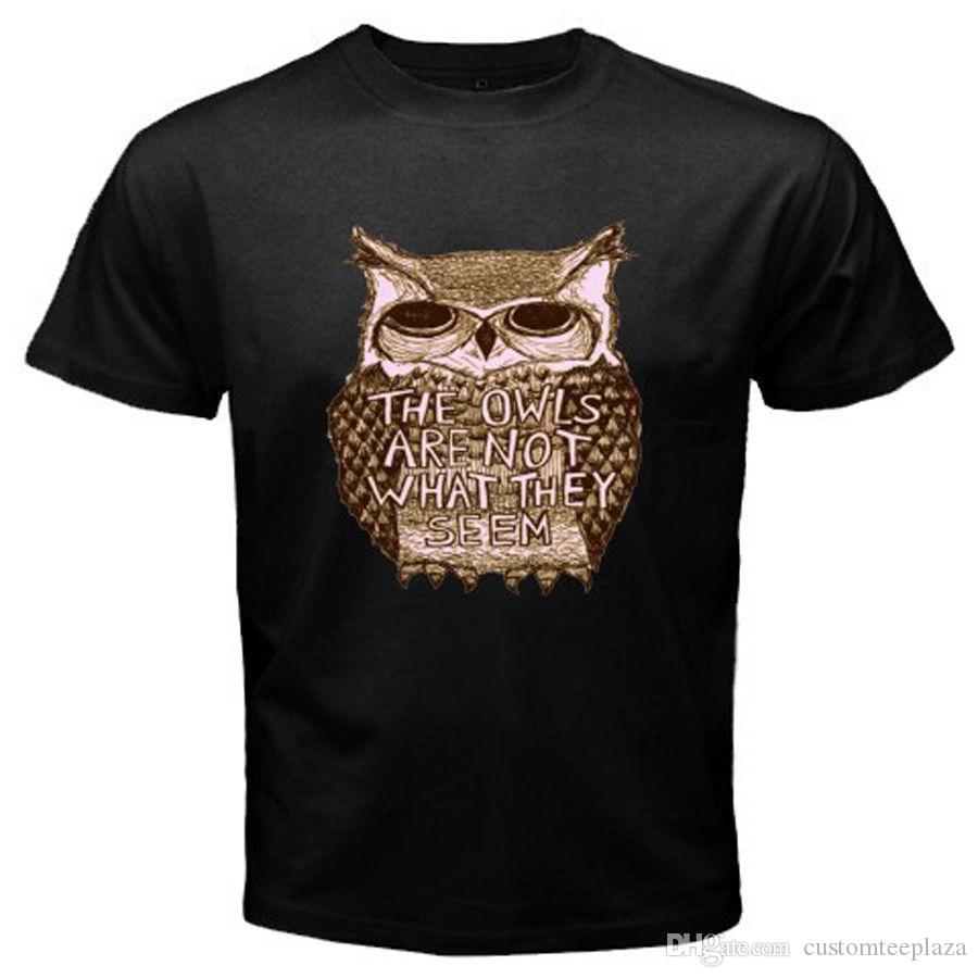 Twin Peaks Tv Show The Owls Are Not What They Seem Mens Black T-Shirt Size S-3Xl Tee Shirt Men Male Top Design Short