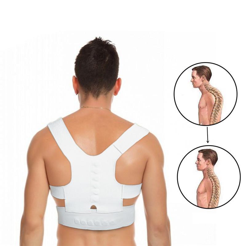 cd3f7012c4 2019 Man And Woman Back Straighten Belt Waist Support Braces Posture  Corrector Brace Shoulder Back Support Sports Belt From Heheda5