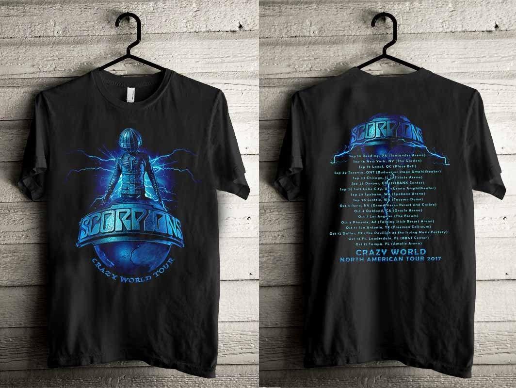 44b07ca3 New Scorpions Crazy World Tour Concert 2017 Men T Shirt Tee T Shirt With  Design It T Shirt Design From Beidhgate10, $11.01  DHgate.Com