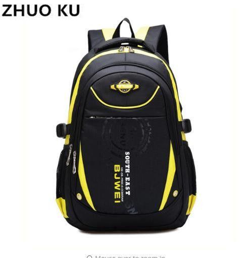 ef5d92e88884 Kids School Bags Orthopedic Backpack Schoolbag Waterproof Nylon ...