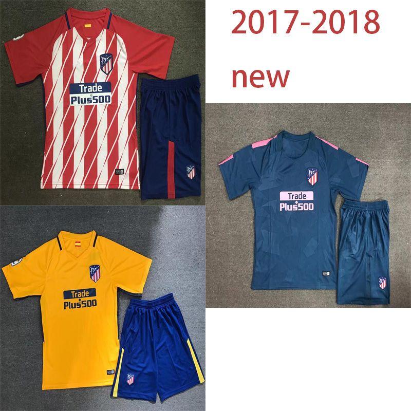 15bbb2b18df ... spain diego godin jersey 2018 madrid atletico 17 18 home and away soccer  jersey koke godin