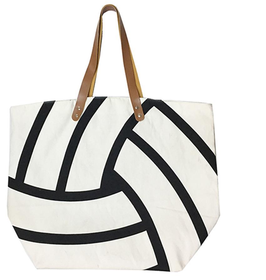 18 style Canvas Bag Baseball Tote Sports Bags Casual Softball Bag Football Soccer Basketball Cotton Canvas Tote Bag GGA189