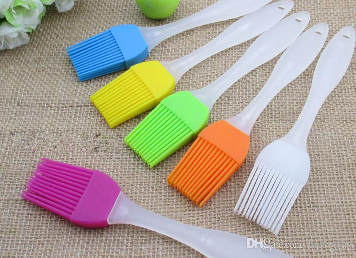 24G Food Grade Silicone Oil Brush Heat Resistant BBQ Brushes Outdoor Picnic Cooking Tools Random Colors order