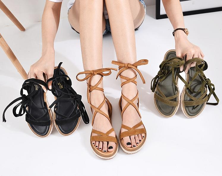 ac9e61ef63ab Flat Bottomed Grass Rope Frenulum Tassels Comfortable Minimalism Genuine  Leather Sandals Open Toe Women Calceus Rome Shoes Women Shoes Sandal Online  with ...