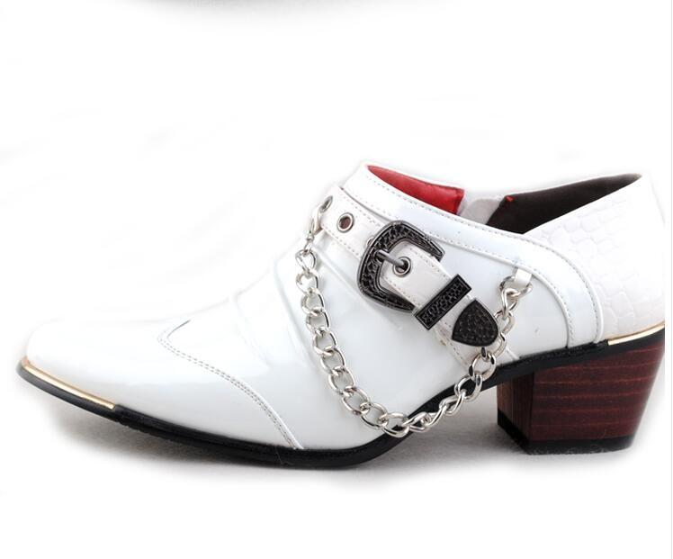 Formal Business Party Dress Mens Shoes High Heels Men Patent Leather  Platform Shoes For Wedding Men Fashion Chain Mens Boots Shoe From  Kaochange d5c86bb0f2f4