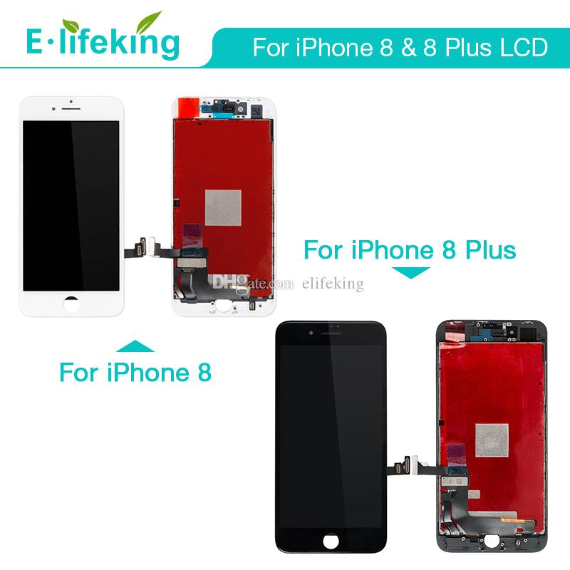 cheap for discount 4bb9a ba6aa Great AAA Quality For iPhone 8 & For iPhon 8 Plus LCD Display Touch Screen  Digitizer Full Assembly LCD Replacement Free DHL Shippping