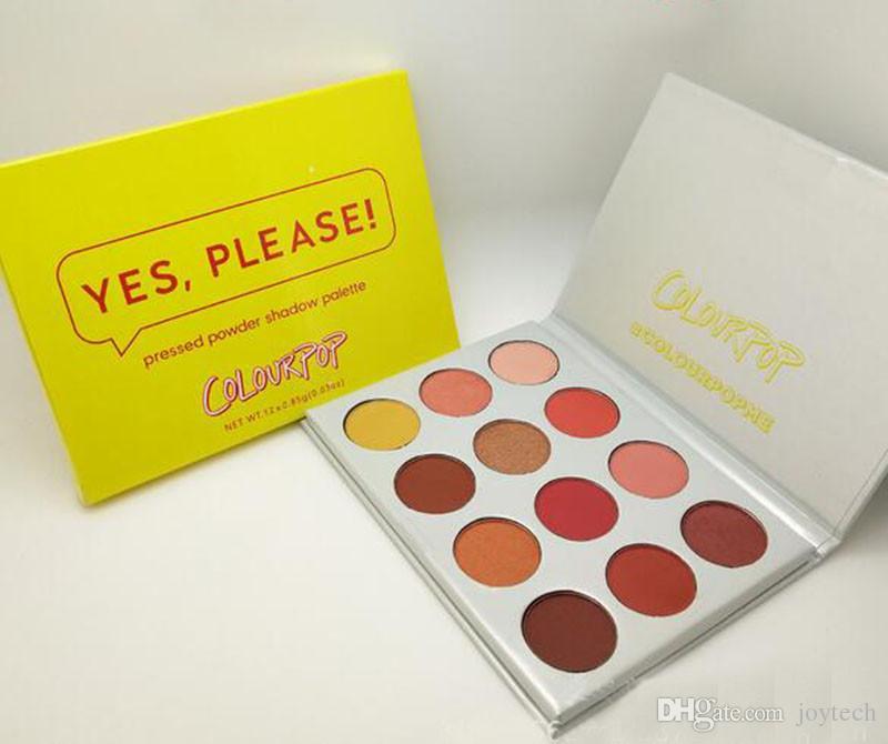 Colourpop Cosmetics 12 Farben Lidschatten Ja, bitte! Lidschatten-Palette drückte Puderaugenschatten Palette DHL-freies Verschiffen