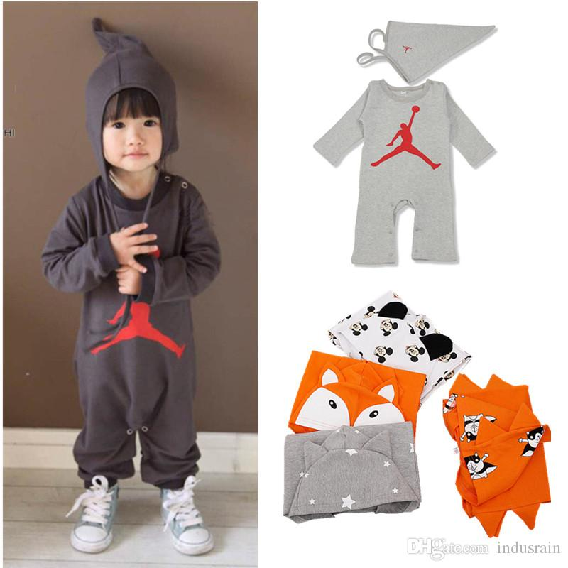 6be45a74c 2019 Clearance Sale Baby Boys Clothes Long Sleeve Cartoon Fox Dog Stars  Printed Slam Dunk Baby Girl Romper Toddler Hoodies Sweatshirt From  Indusrain, ...