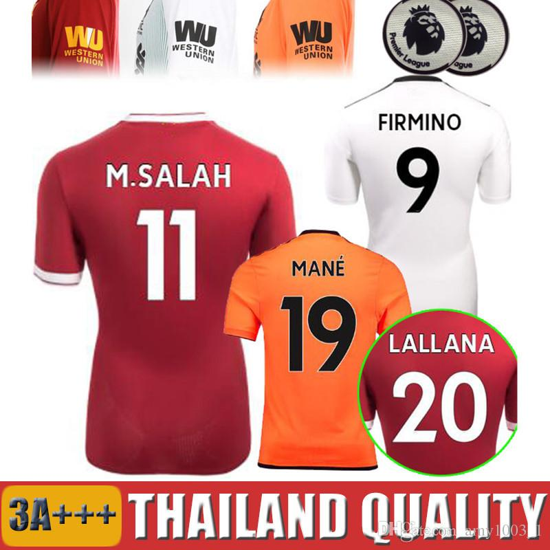 17 18 19 SALAH Gerrard FIRMINO VIRGIL Soccer Jerseys 2018 2019 Third ... 0e94faa6c