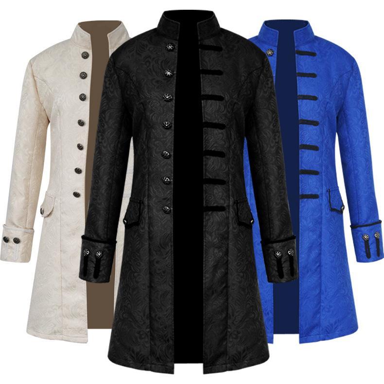 712352efe6c Compre Abrigo De Caballero De Los Hombres Moda Steampunk Chaqueta De Abrigo  Vintage Chaqueta De Vestir Victoriana Gótica Traje De Uniforme De Los  Hombres A ...