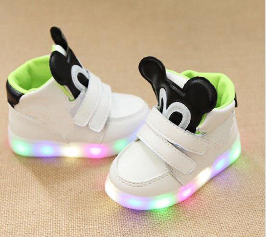2018 European Fashion Glowing Children Boots LED Lighted Solid Girls Boys  Shoes Elegant Fantastic Glitter Kids Toddlers Footwear Good Kids Shoes  Black ... 6d1398d8a576