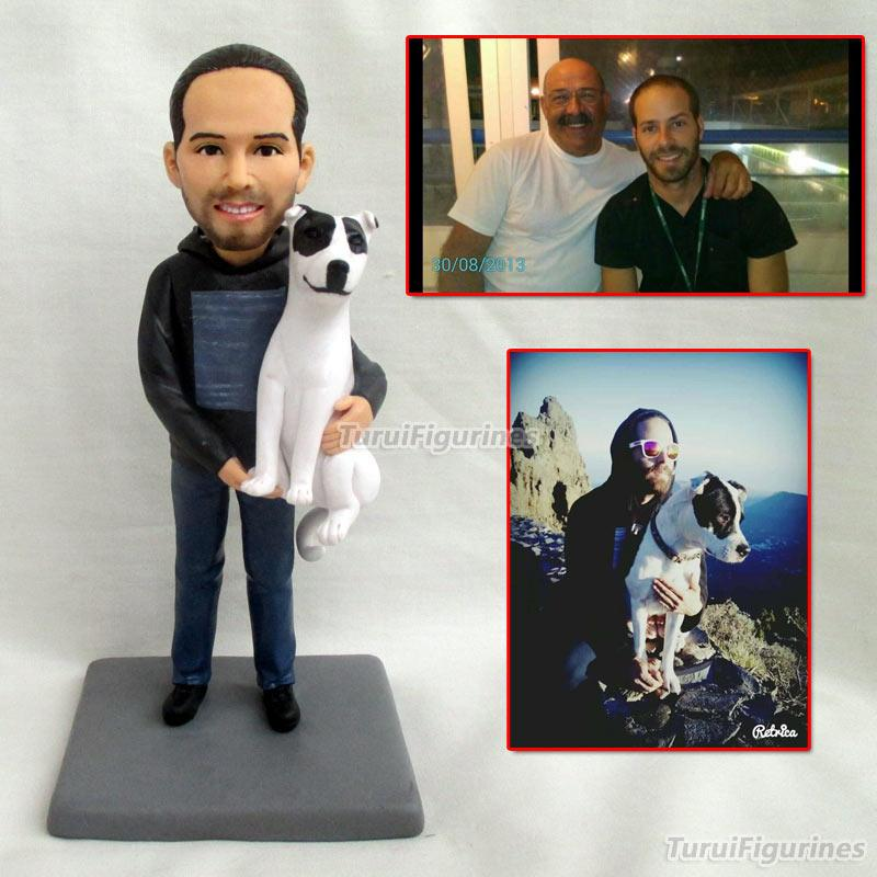2019 Personalized Gifts For Father Gift Boyfriend Personalized Date Name Wedding Cake Topper Groom And Bride Action Figures Clay Doll From Turui_figurines, ...