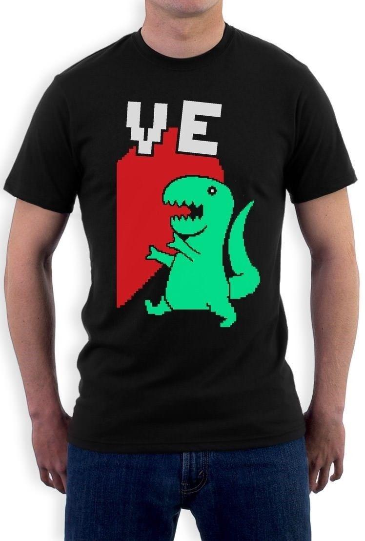 T Rex Love Valentines Day Half Heart Matching Couples T Shirt Gift
