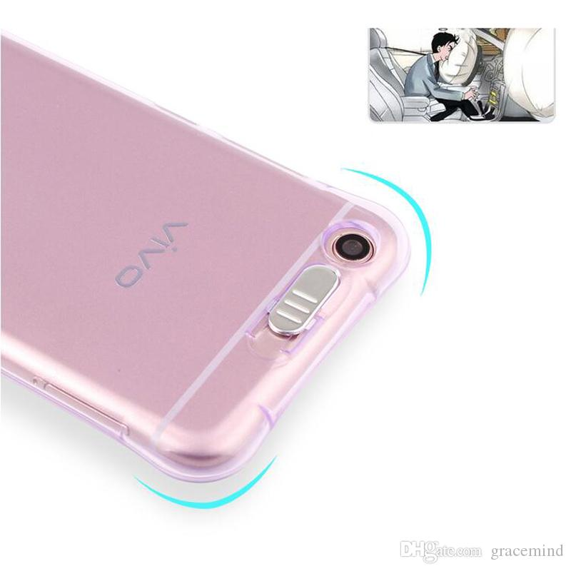 For VIVO X9S X9S X20 Plus Shockproof Soft Rear Cover Case TPU Frame Flash Up Light Incoming Call LED Phone Cover