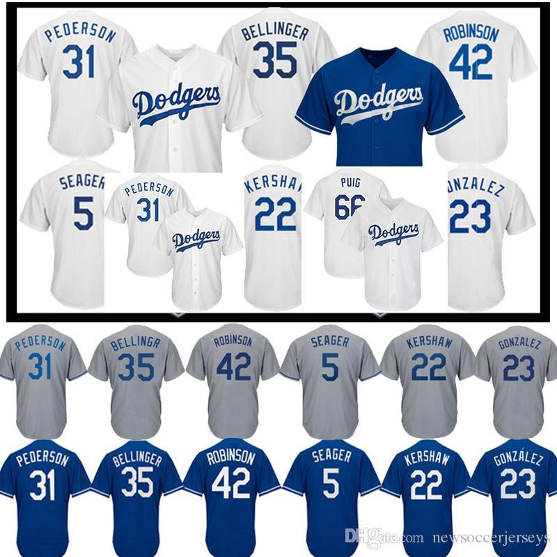 fc683cc3010 2019 22 Clayton Kershaw LA Dodgers Jersey 10 Justin Turner 66 Yasiel Puig 23  Adrian Gonzalez 5 Corey Seager Men Baseball Jerseys From Gatejerseys