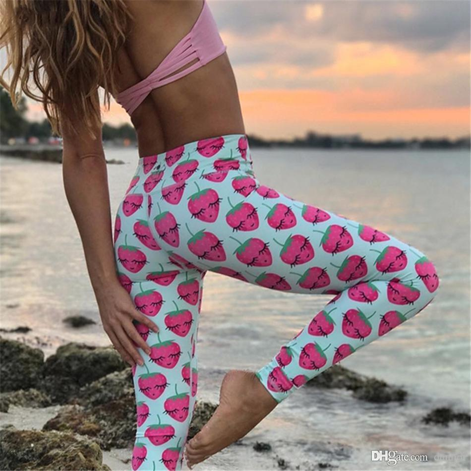 Acheter Lunatique Drôle Fraise Imprimé Legging Yoga Yoga Femmes Running  Sport Collants Filles Bébé Ananas Bleu Fitness Legging De  28.83 Du Canren   1e75f37ad6f