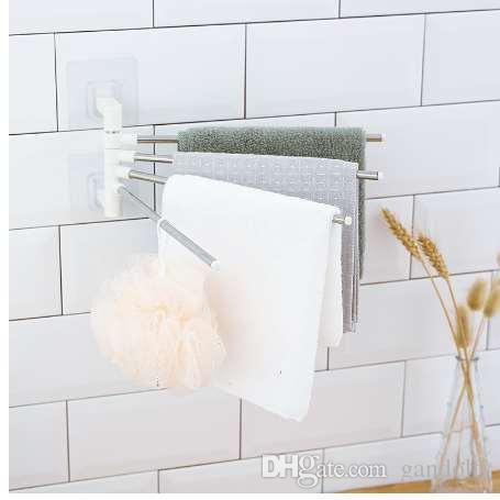 Großhandel Kreative Keine Spur Vier Handtuchhalter Badezimmer Handtuch Bad  Reinigungsartikel Lagerung Freies Stanzen Edelstahl Lagerregal Von  Gandolfi, ...