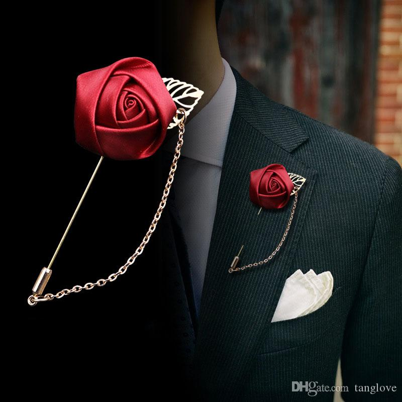 2018 Fashion Lapel Pin Brooch Women S Mens Brooches Gold Leaf Flowers Lapel  Pin Brooch For Suits Clothing Elegant Wedding Jewelry Brooches UK 2019 From  ... 6eb3099da