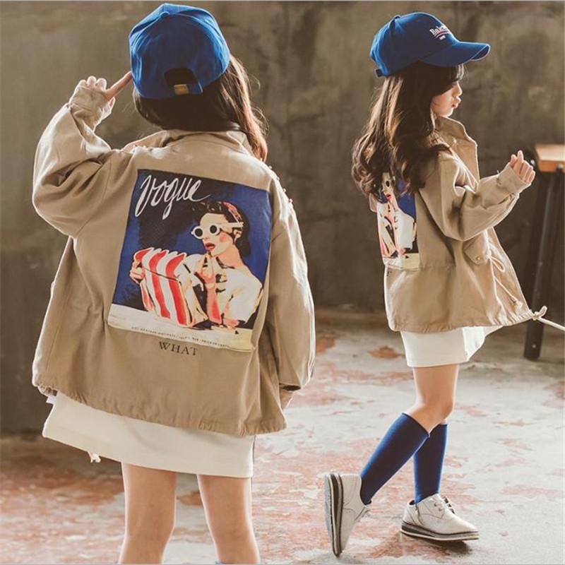db4680545 Children Windbreaker Baby Girls Kids Jacket Cardigan 2018 Fashion ...