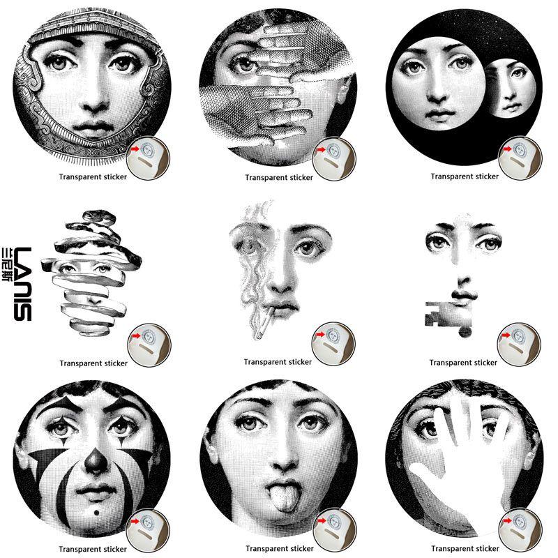 Acheter NO.1 28 Designer Fornasetti Papier Peint Même Identique Transparent  Stickers Muraux Pour Décoration Murale Salon De $22.8 Du Diaolan    DHgate.Com