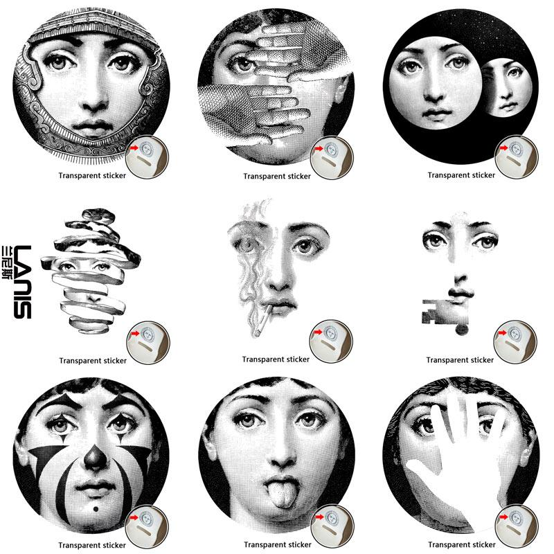 NO1 28 Designer Fornasetti Wallpaper The Same As Transparent Stickers Wall For Decoration Living Room Decor Quotes
