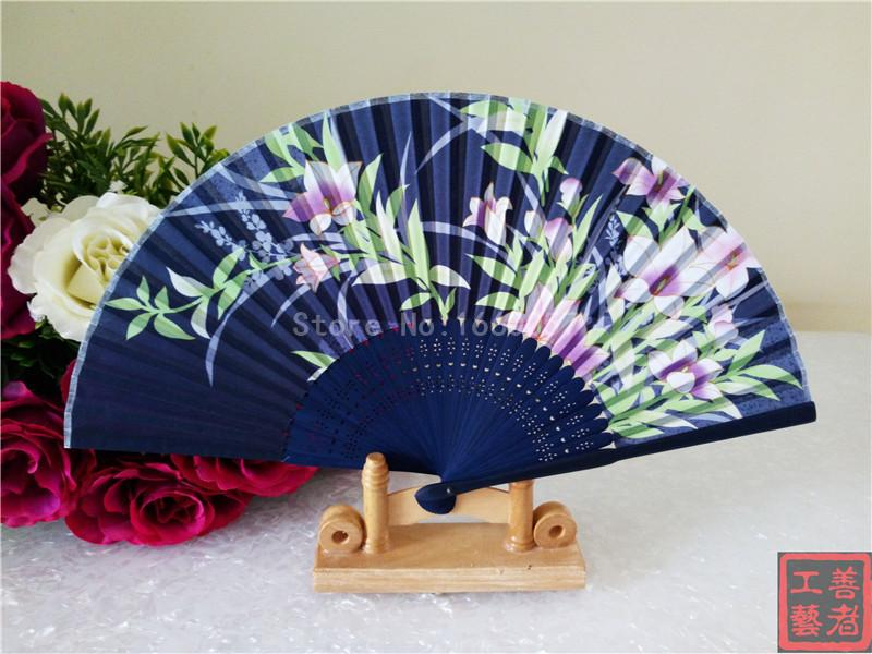 classical chinese wedding favor flower silk fabric cherry blossom butterfly bridal shower gift cloth folding hand fan affordable wedding favors amazing